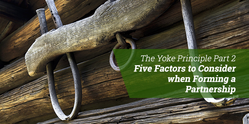 The Yoke Principle Part 2:  Five Factors to Consider when Forming a Partnership