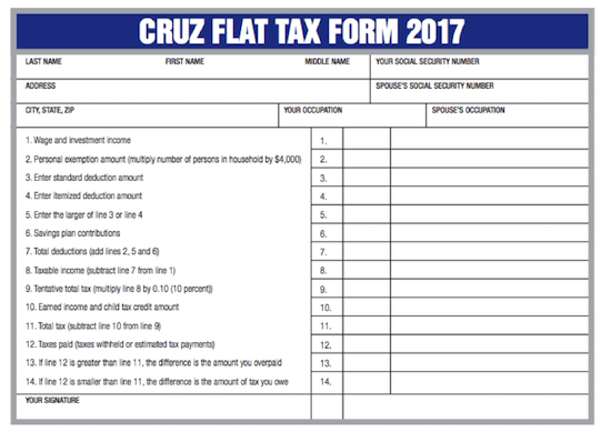 Flat Tax Postcard