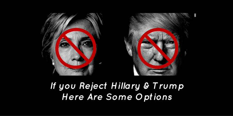 If You Reject Hillary & Trump Here are Some Options